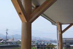 河口に建つ二世代住宅 (木造2階建)
